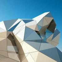 Modern building downtown, 3d rendering image