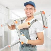 happy painter worker photo