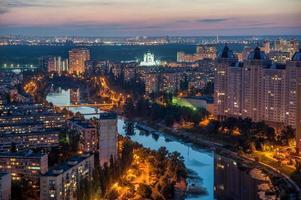 Big city in twilight photo