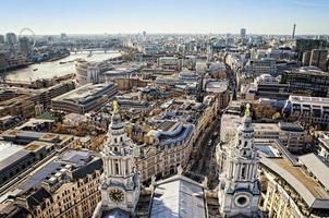 Aerial view of the City of London photo