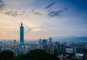 Skyline of Taipei city photo