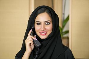 representante de servicio al cliente árabe foto