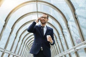 Businessman using a phone photo