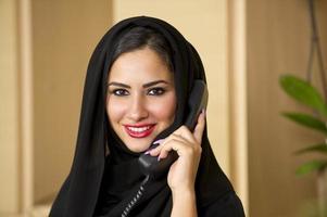 representante de serviço ao cliente árabe