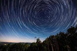 Star trails around the North Star