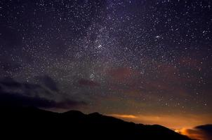 Star sky photo
