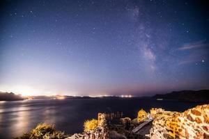 Milky Way,Santorini photo