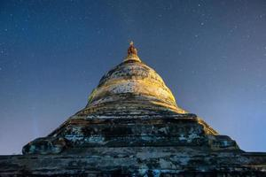 star above ancient pagoda photo