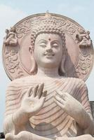 Close up of buddha statue.