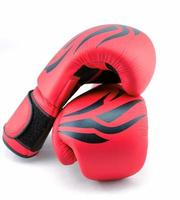 red boxing gloves on a white background