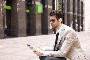 Modern young businessman photo