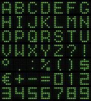 dot-matrix font