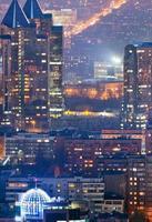 Night city of Almaty photo
