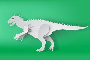 rex dinossauro sobre fundo verde vetor
