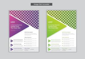 Flyer for business template set