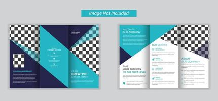 Creative business agency triple folding brochure
