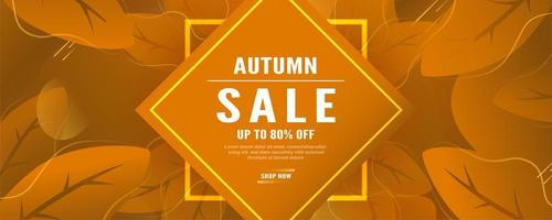 Autumn Fall Leaves Sales Banner  vector