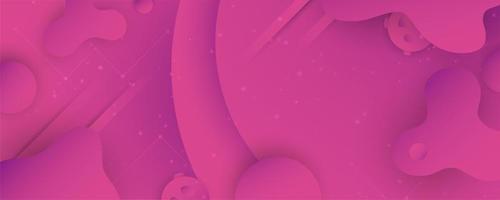 Pink Fluid Gradient Horizontal Banner  vector