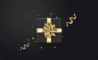 Gold and Black Gift box  vector