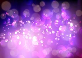 Purple bokeh lights background vector