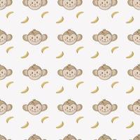 patrón de mono transparente de bebé niños