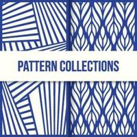 Seamless Wave Patterns Like Optical Illusions vector