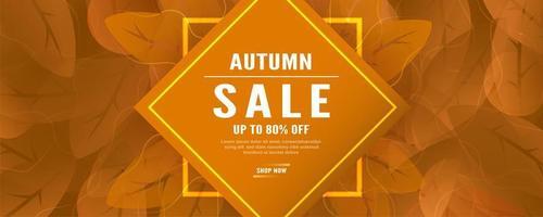 banner de ventas horizontales de otoño