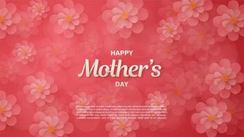 Pink Floral Mother's Day background vector