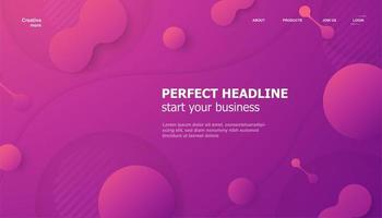 Landing Page Pink Purple Gradient Shapes Background