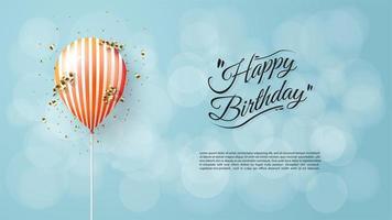 Happy Birthday Balloon vector
