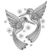 página para colorear de aves vector