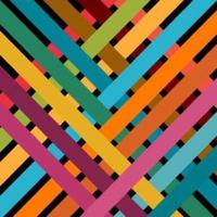 Colorful Woven Stripes Background vector