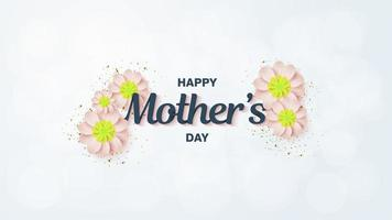 Yellow Flowers Mother's Day background vector