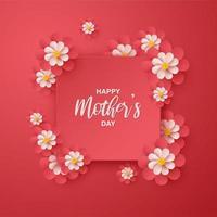 tarjeta del día de la madre feliz