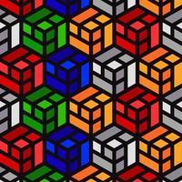 conceptions de modèle de grille de cube coloré
