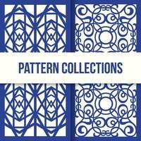 motifs élaborés arabes bleus vecteur