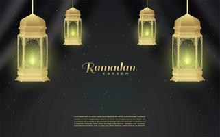 Background of Ramadan Lanterns vector