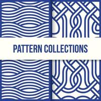 Seamless Blue Wave Pattern Designs vector