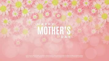 Floral Mother's Day background vector