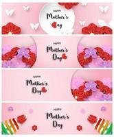 conception de modèle de paquet horizontal pour la fête des mères heureuse