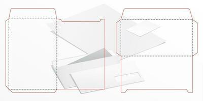 dielines envelope a4 e dl vetor