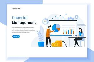 Financial management landing page