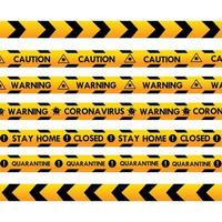 cinta policial de advertencia de coronavirus vector