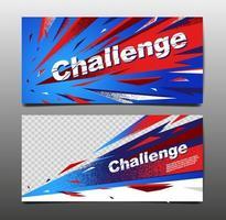 Horizontal Dynamic Sports Banner Set vector