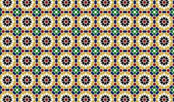 Arabic Geometric Floral Seamless Pattern
