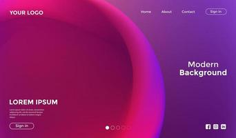 Abstract Purple Pink Background Landing Page Template