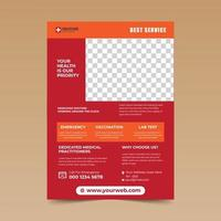 Red Medical Flyer Template