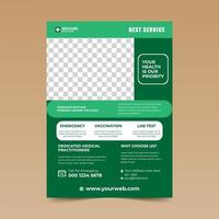 Green and White Rounded Accent Medical  Flyer