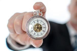 Concept of time at work photo