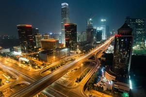Night time Urban skyline of Beijing,the capital city of China